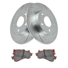 96-01 I30; 94-03 Maxima Rear Posi Ceramic Pad & Performance Brake Rotor Kit
