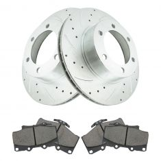 96-00 4Runner w/ 16in Whls Front Performance Rotor & Posi Ceramic Brake Kit
