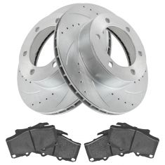 96-00 4Runner w/ 15in Whls Front Performance Rotor & Posi Metallic Brake Kit