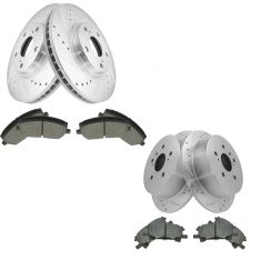 04-07 Highlander Front & Rear Posi Ceramic Pad & Performance Rotor Kit