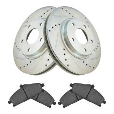 04-09 Nissan Quest Front Posi Ceramic Pad & Performance Rotor Kit