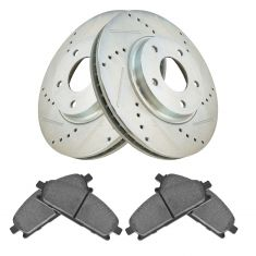 04-09 Nissan Quest Front Posi Metallic Pad & Performance Rotor Kit