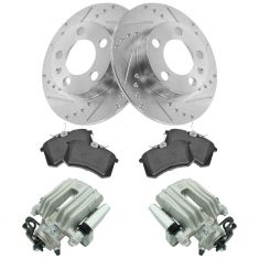 02-06 TT, 98-10 Beetle, 99-06 Golf, Rear Brake Caliper ,Ceramic Pads & Peformance Rotor Kit