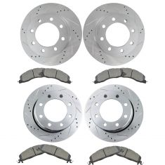 09-16 Ram 2500 3500, Front & Rear Performance Rotor & Premium Posi Semi Metallic Pad Kit