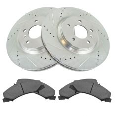 GM SUV Multifit Front & Rear Premium Posi Ceramic Brake Pad & Performance Rotor Kit