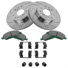Front Performance Rotor & Posi Ceramic Pad w/HW Kit 05-09  Chevy Truck/SUV