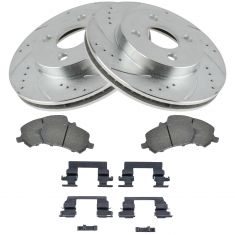 05-07 Cobolt; 03-06 Ion Front Performance Rotor & Ceramic Pad w/HW Set