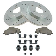 05-09 Lacrosse, Grand Prix, Rear Performance Brake Rotor & Ceramic Pad w/HW Set