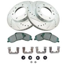 07-08 Entourage; Sedona Front Ceramic Brake Pad w/HW & Performance Rotor Kit