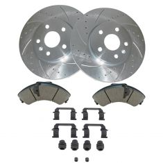 10-14 Lacrosse, Equinox Front Ceramic Brake Pad w/HW & Performance Rotor Kit