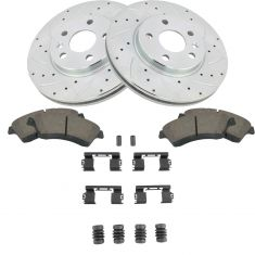 11-15 Cruze Sonic Front Performance Brake Rotor & Ceramic Pad w/HW Kit
