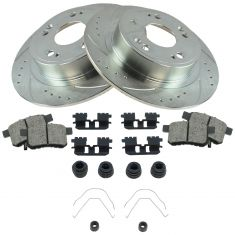 13-15 Accord Rear Ceramic Brake Pad w/HW & Performance Rotor Kit