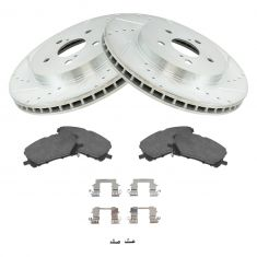 04-09 RX330, RX350, RX400h Front Performance Rotor & Ceramic Brake Pad w/HW Kit