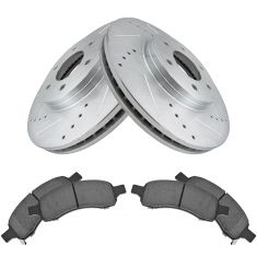 06-09 Trailblazer SS; 08-09 9-7x Aero Front Posi Ceramic Pad & Performance Rotor Kit