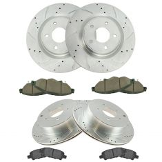 Infiniti, Nissan Multifit Front & Rear Premium Posi Ceramic Pad & Performance Rotor Kit