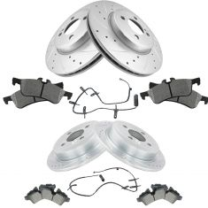 07-08 Mini Cooper Front & Rear Posi Ceramic Pad, Performance Rotor & Weat Sensor Kit