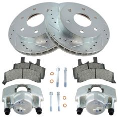GM Truck Front Posi Ceramic Pad, Brake Calipers & Performance Rotor Kit