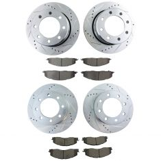 09-17 Ram 2500 3500, Front & Rear Performance Rotor & Premium Posi Ceramic Pad Kit