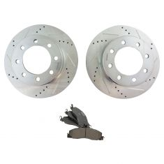 09-17 Ram 2500, 3500; 12 1500HD Frnt Performnce Rotor w/Premium Posi Ceramic Disc Pad & Hardware Kit