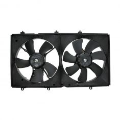 02-07 Mitsubishi Lancer Dual Cooling Fan Assembly
