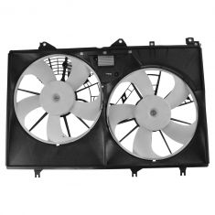 11-13 Toyota Highlander Hybrid Dual Radiator Cooling Fan Assembly w/ Module