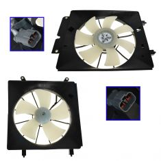 2002-06 Honda CR-V (Japan Built Models) Radiator & AC Condenser Fan PAIR