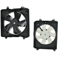 12-15 Honda Civic Radiator and Condenser Fan Pair