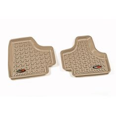 08-13 Jeep Liberty Tan Rear Floor Liner SET (Rugged Ridge)