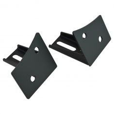 07-15 Jeep Wrangler Lower Windshield Light Mount Bracket Pair