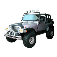 Full Frame Light Bar, Black, 97-06 Jeep Wrangler