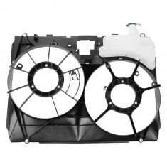 06 Toyota Sienna Radiator Fan Shroud w/Integrated Coolant Overflow Bottle
