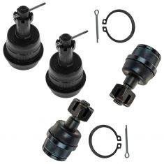 99-04 Jeep Grand Cherokee; 07-13 Wrangler Upper & Lower Ball Joint Set of 4