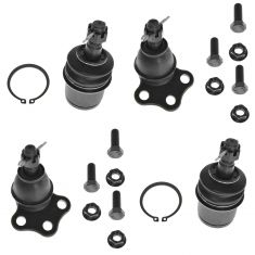 00-04 Dodge Dakota; 00-03 Durango Front Upper & Lower Ball Joint Set