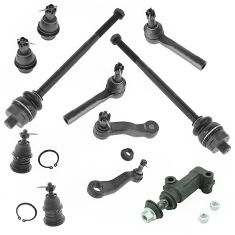 Cadillac Chevy GMC Pickup SUV 4WD & 4 Groove Pit Arm Front Steering & Suspension Kit (11 Piece Set)