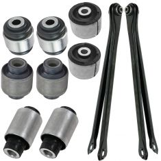 01-05 BMW 325CI, 325XI, 330CI, 330XI, 10 Piece Rear Lower Lateral Locating Arm & Bushing Kit