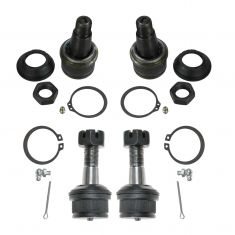 92-05 Dodge, Ford Pickup SUV 4WD Multifit Front Upper & Lower Ball Joint Kit (Set of 4)