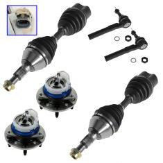 04-05 Classic; 97-03 Malibu; 99-04 Alero; 97-99 Cutlass; 99-05 Grd Am Hub, Axle Shaft, & Tie Rod Kit