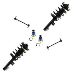 96-07 Ford Taurus, Mercury Sable Front Spring, Strut, Sway Bar Link and Low Ball Joint Kit