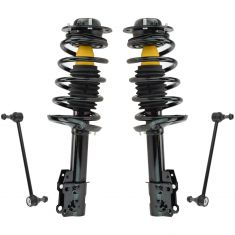 04-12 Chevy Malibu; 05-10 Pontiac G6; 07-09 Saturn Aura Front Loaded Strut & Sway Bar Link Rear SET