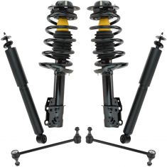 04-12 Malibu; 05-10 G6; 07-09 Aura Front & Rear Strut/Spring & Shock Absorber Kit w Sway Links