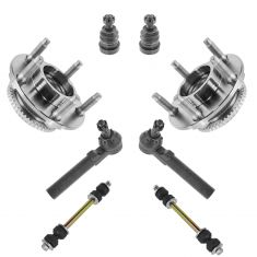 94-04 Ford Mustang Front Hub, Lower Balljoint,Sway link & Tie Rod Kit set of 8