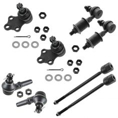 93-02 Mercury Villager; Nissan Quest Tie Rod, Ball Joint & Sway Bar Link Kit