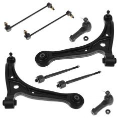 Front Lower Control Arms, Tie rods & Sway Link 8pc Kit 99-04 Honda Odyssey