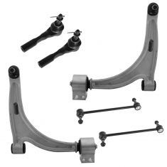 07-09 Saturn Aura; 05-10 G6; 04-11 Malibu Front Lower Control Arm, Tie Rod, Sway Bar Kit (Set of 6)