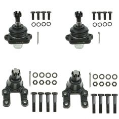 83-97 Nissan PU; 87-95 Pathfinder Front Upper & Lower Ball Joint Set of 4