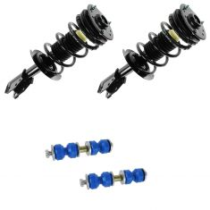 00-05 Chevy Cavalier; Pontiac Sunfire Loaded Front Strut Pair and Sway Bar Link Kit
