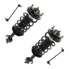01-04 Ford Escape, Mazda Tribute Front Strut/Coil Spring and Sway Bar Link Set