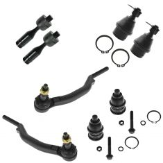 02-07 GM Mid Size SUV (w/16mm Inner Tie Rod Threads) Frt Steering Tie Rod & Balljoint Kit (Set of 8)