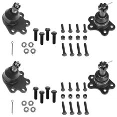98-05 Chevy GMC 4WD Upper & Lower Ball Joint Set of 4
