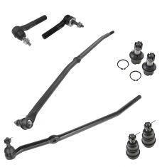 06-08 Ram 1500; 03-07 2500, 3500 (Ext & Crew Cab) w/4WD Frt Balljoint & Tie Rod Kit (8 Piece Set)